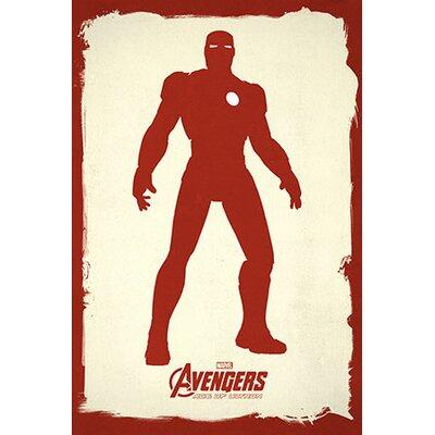 Marvel Comics Minimalistic Avengers Iron man Graphic Art on Canvas MRV1008-1PC3-18x12