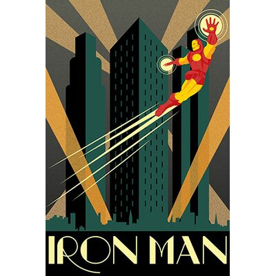 Marvel Comics Iron Man Minimalistic Graphic Art on Canvas MRV1173-1PC6-18x12