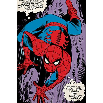 Marvel Comics Spider-Man: If I Can Learn The Reason Why! Comic Book Poster Graphic Art on Canvas MRV1151-1PC3-12x8