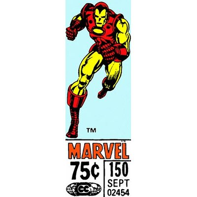 Marvel Comics (Retro) - Book Iron Man Price Tag Panoramic Vintage Advertisement on Canvas MRV356-1PC6-48x16