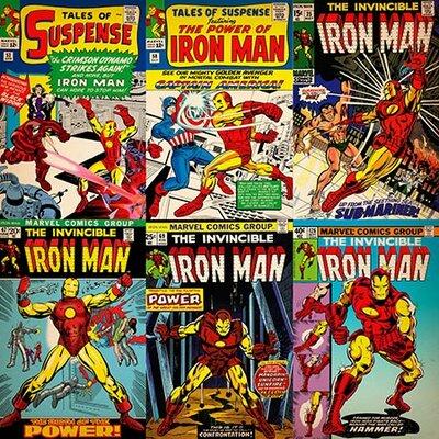 Marvel Comics Comics (Retro) - Book Iron Man Comic Covers #2 Vintage Advertisement on Canvas MRV375-1PC6-18x18