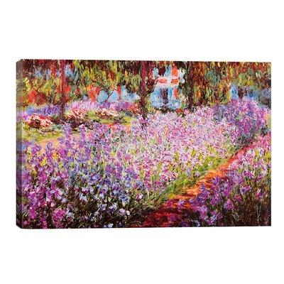 Jardin De Giverny Canvas Print by Claude Monet Size: 12