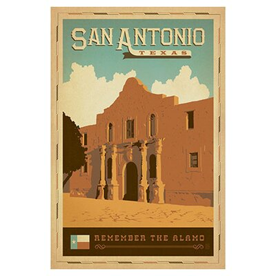 Remember The Alamo Canvas Art by Anderson Design Group Size: 18