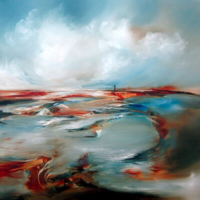 'Twisted Light' by JA Art Painting Print on Wrapped Canvas Size: 18