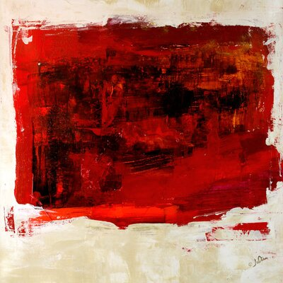 'Red Study' by Julian Spencer Painting Print on Wrapped Canvas Size: 26