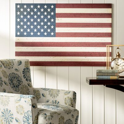 'U.S. Constitution American Flag' Graphic Art on Canvas