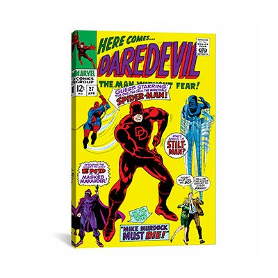 Daredevil, Issue #27 Cover by Marvel Comics Vintage Advertisement on Canvas MRV1161-1PC3-40x26