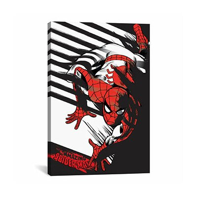 The Amazing Spider-Man Minimalistic Poster by Marvel Comics Graphic Art on Canvas MRV1181-1PC3-12x8