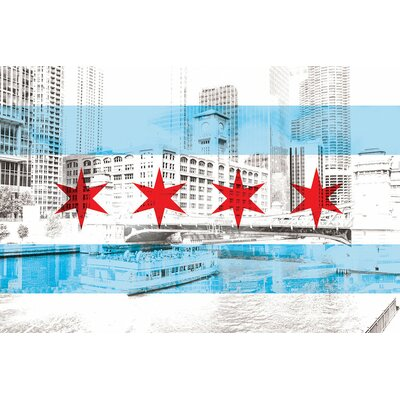 'The Windy City - Chicago - The City of Big Shoiulders' by 5by5collective Graphic Art on Wrapped Canvas