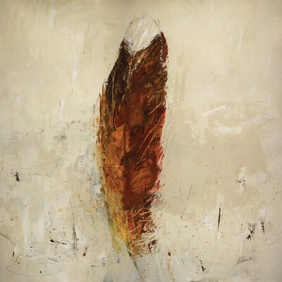 'Feather Flame' by Julian Spencer Painting Print on Wrapped Canvas Size: 26