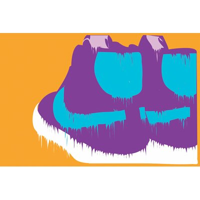'Nike-creams' by Technodrome1 Graphic Art on Wrapped Canvas Size: 18
