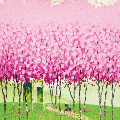 'Happiness' by Phan Thu Trang Painting Print on Wrapped Canvas Size: 26