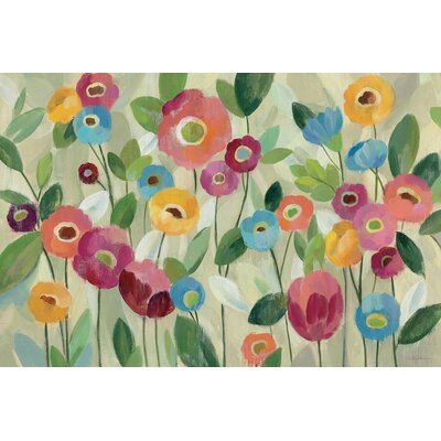 'Fairy Tale Flowers V' by Silvia Vassileva8 Painting Print Wrapped on Canvas Size: 12