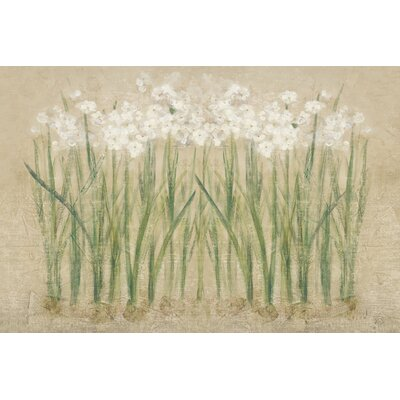 'Narcissus Cool' by Cheri Blum Painting Print on Wrapped Canvas Size: 18