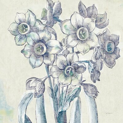 'Belle Fleur IV' by Sue Schlabach Graphic Art on Wrapped Canvas Size: 12