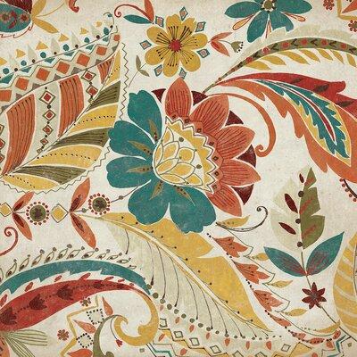 'Boho Paisley Spice I' by Wild Apple Portfolio Graphic Art on Wrapped Canvas Size: 18