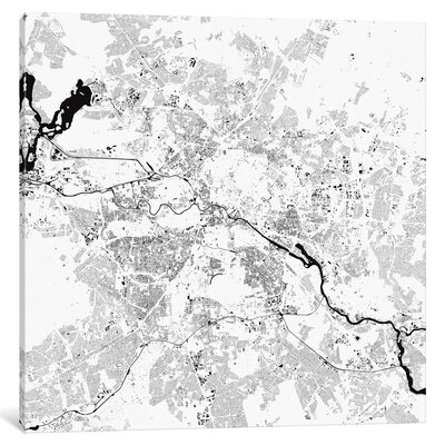 'Berlin Urban Map' by Urbanmap Graphic Art on Wrapped Canvas Size: 12