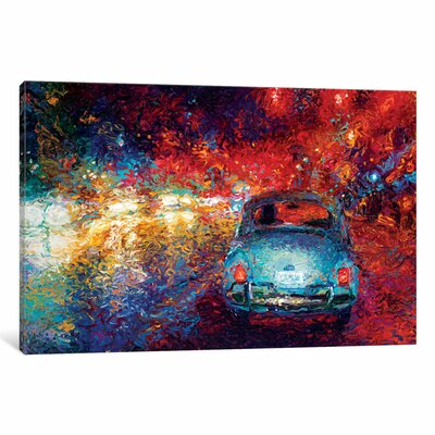 'Becca's Bug' by Iris Scott Original Painting on Wrapped Canvas Size: 18