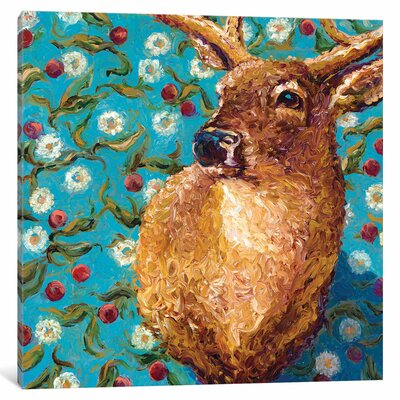 'Cherry Buck' by Iris Scott Original Painting on Wrapped Canvas Size: 26