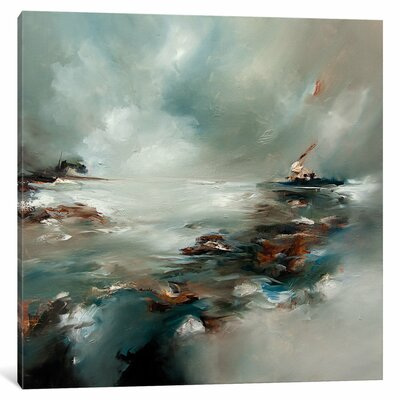 'Turning Windmills' by J.A Art Original Painting on Wrapped Canvas Size: 37