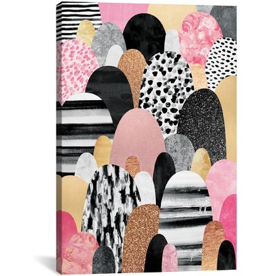 'Pink Pebbles' by Elisabeth Fredriksson Graphic Art on Wrapped Canvas Size: 26