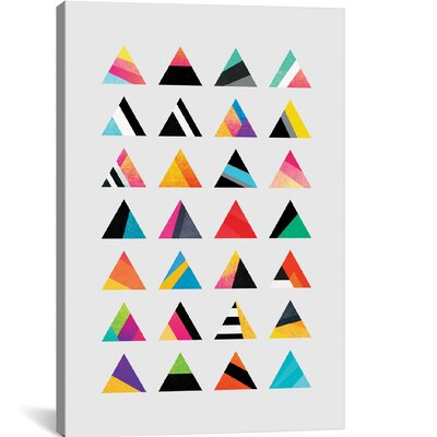 'Waves Canvas' by Elisabeth Fredriksson Graphic Art on Wrapped Canvas Size: 26