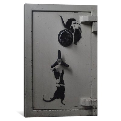 Rat Safe by Banksy Photographic Print on Wrapped Canvas 1_2212-1PC3-12x8