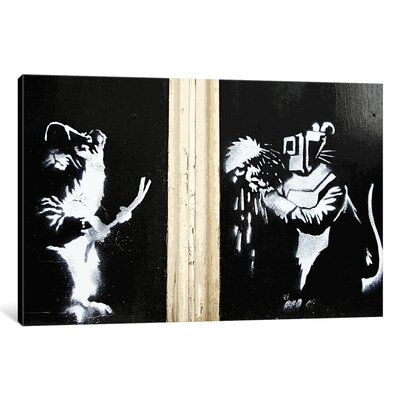 Welding Rats by Banksy Painting Print on Wrapped Canvas 1_2090-1PC3-12x8