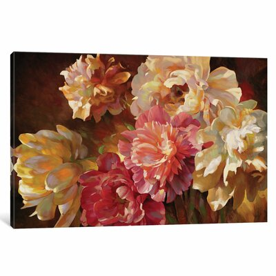 Peonies In Pastel Original Painting on Wrapped Canvas Size: 12