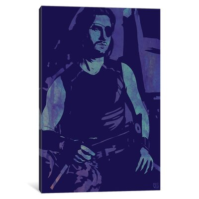'Escape From New York Snake Plissken' by Giuseppe Cristiano Graphic Art on Wrapped Canvas JCR84-1PC3-12x8