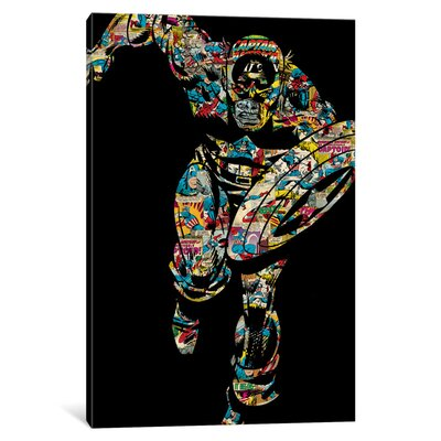 'Marvel Comics Retro Captain America' by Marvel Comics Graphic Art on Wrapped Canvas MRV1461-1PC3-12x8
