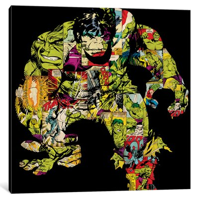 'Marvel Comics Retro Hulk Comic' by Marvel Comics Graphic Art on Wrapped Canvas MRV1463-1PC3-12x12