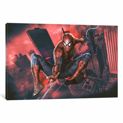 """'Ultimate Spider-Man' by Marvel Comics Graphic Art on Wrapped Canvas Size: 12"""" H x 18"""" W x 1.5"""" D MRV1471-1PC6-18x12"""
