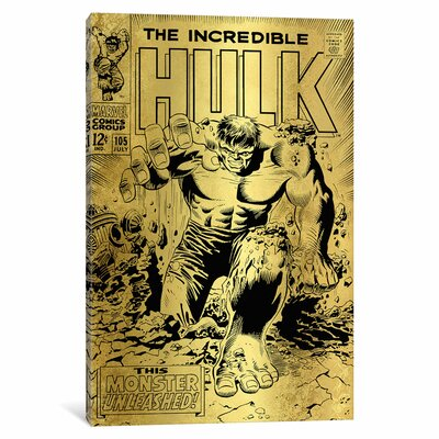'Marvel Comics Retro The Incredible Hulk' by Marvel Comics Vintage Advertisement on Wrapped Canvas MRV1473-1PC3-12x8