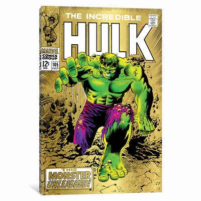 'Marvel Comics Retro The Incredible Hulk' by Marvel Comics Vintage Advertisement on Wrapped Canvas MRV1474-1PC3-12x8