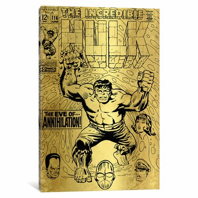 'Marvel Comics Retro The Incredible Hulk' by Marvel Comics Vintage Advertisement on Wrapped Canvas MRV1475-1PC3-12x8