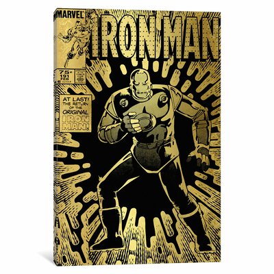 'Marvel Comics Retro Iron Man 1985' by Marvel Comics Vintage Advertisement on Wrapped Canvas MRV1481-1PC3-12x8