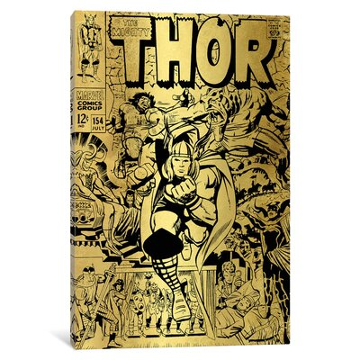 'Marvel Comics Retro The Mighty Thor' by Marvel Comics Vintage Advertisement on Wrapped Canvas MRV1485-1PC3-12x8