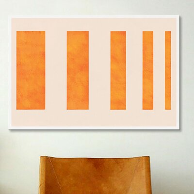 'Modern Art - Orange Levies' Graphic Art Print