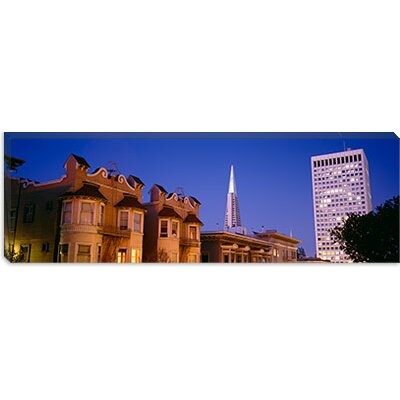 "iCanvasART Buildings Lit Up At Dusk, Transamerica Pyramid, San Francisco, California, Canvas Wall Art -Configuration:1 Panel, Size:16"" Hx48 at Sears.com"