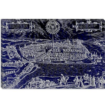"iCanvasART ""Antique Map of Kiel (1572)"" Canvas Wall Art by Georg Braun & Franz Hogenberg -Configuration:1 Panel, Size:26"" Hx40"" Wx1.5"" D, C at Sears.com"