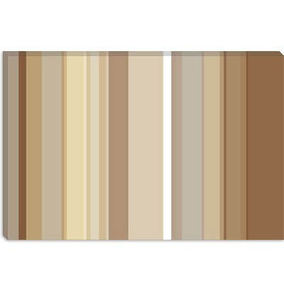 "iCanvasART Cafe Mocha Brown Striped Art - Configuration: 1 Panel, Size: 40"" H x 60"" W x 1.5"" D at Sears.com"
