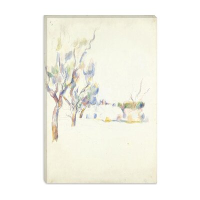 "iCanvasART ""Amandiers En Provence (Allee Du Jas De Bouffan) 1900"" Canvas Wall Art by Paul Cezanne -Configuration:1 Panel, Size:26"" Hx18"" Wx at Sears.com"