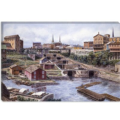 "iCanvasART ""Lockport New York, Lockport 5's, California 1865"" Canvas Wall Art by Stanton Manolakas -Configuration:1 Panel, Size:12"" Hx18"" W at Sears.com"