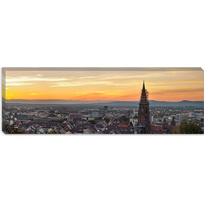 "iCanvasART Tower of a Cathedral, Freiburg Munster, Baden-Wurttemberg, Germany Canvas Wall Art -Configuration:1 Panel, Size:12"" Hx36"" Wx1.5"" at Sears.com"