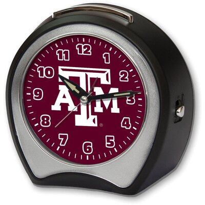 Collegiate Alarm Table Clock NCAA Team: Texas A&M University CCTXA1B