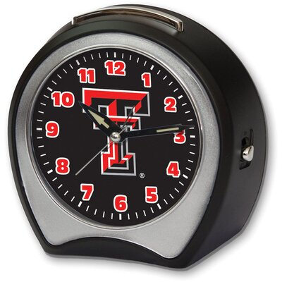 Collegiate Alarm Table Clock NCAA Team: Texas Tech University CCTXT1B