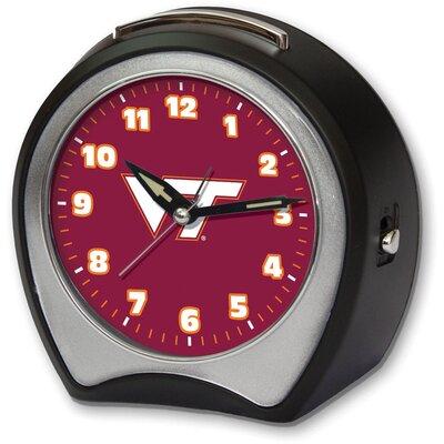 Collegiate Alarm Table Clock NCAA Team: Virginia Tech University CCVAT1B