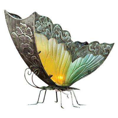 Cape Craftsmen Bohemian Rhapsody Glass and Metal Butterfly 16.7