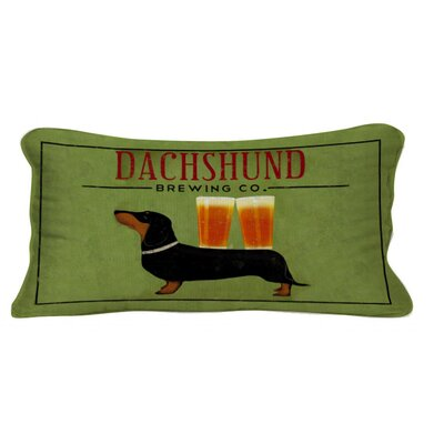Dachshund Brewing Co Lumbar Pillow